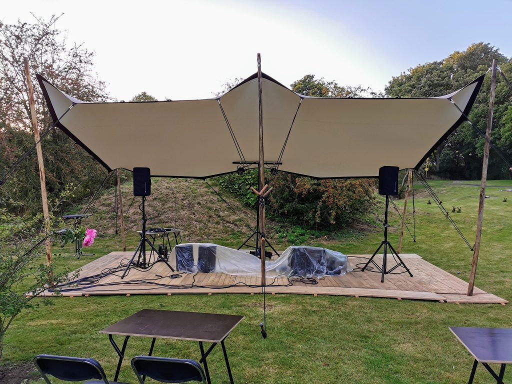 4 x 8 m Taupe-Wit