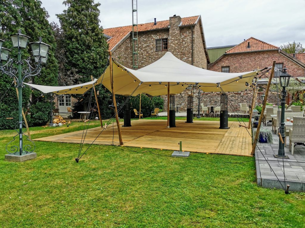 8 x 10 m Taupe-Wit